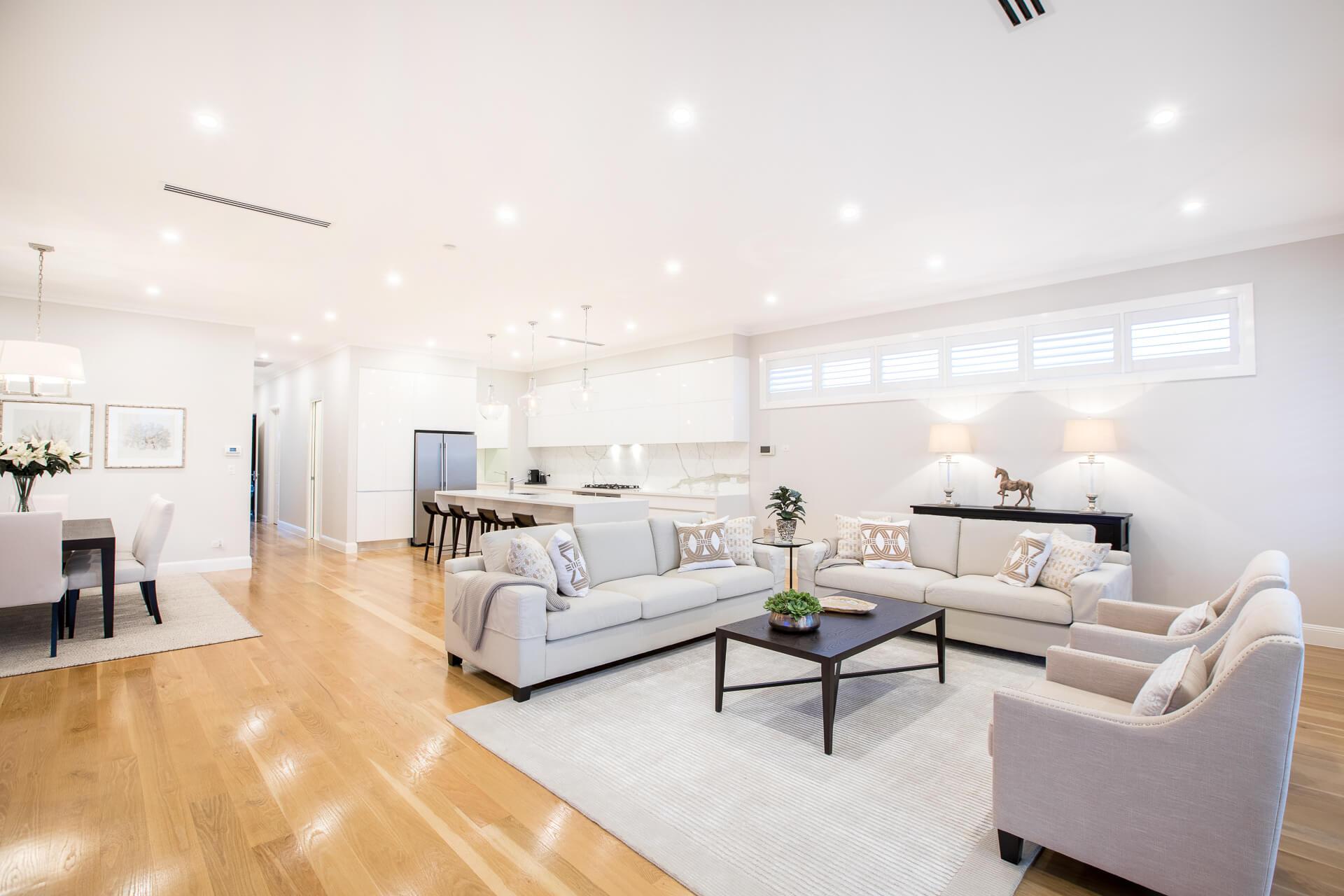 Open plan home finesse projects brisbane builders