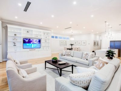 Living area finesse projects brisbane builders