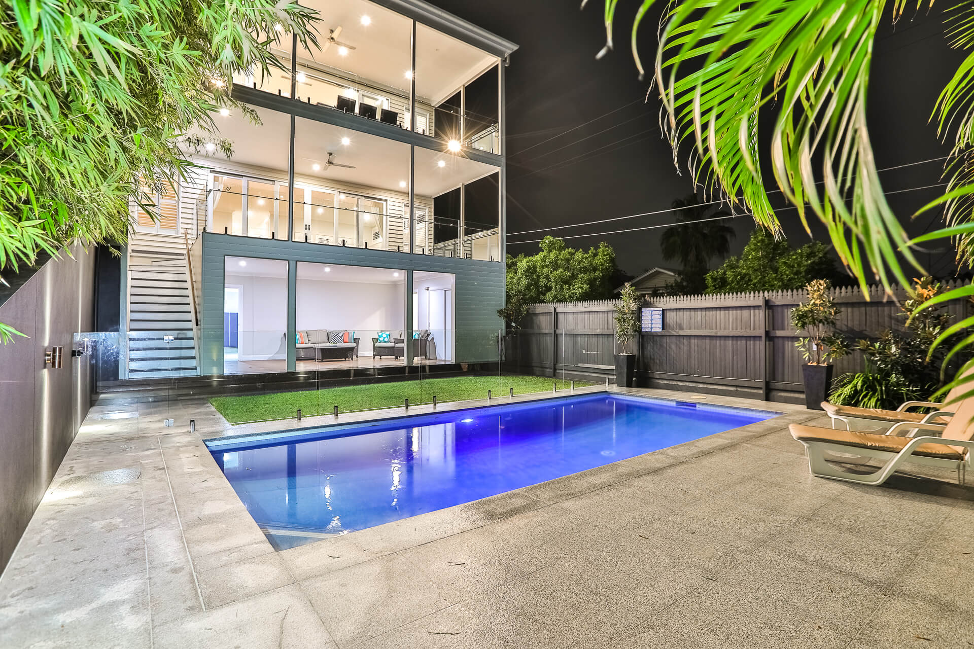 pool area at back of brisbane home