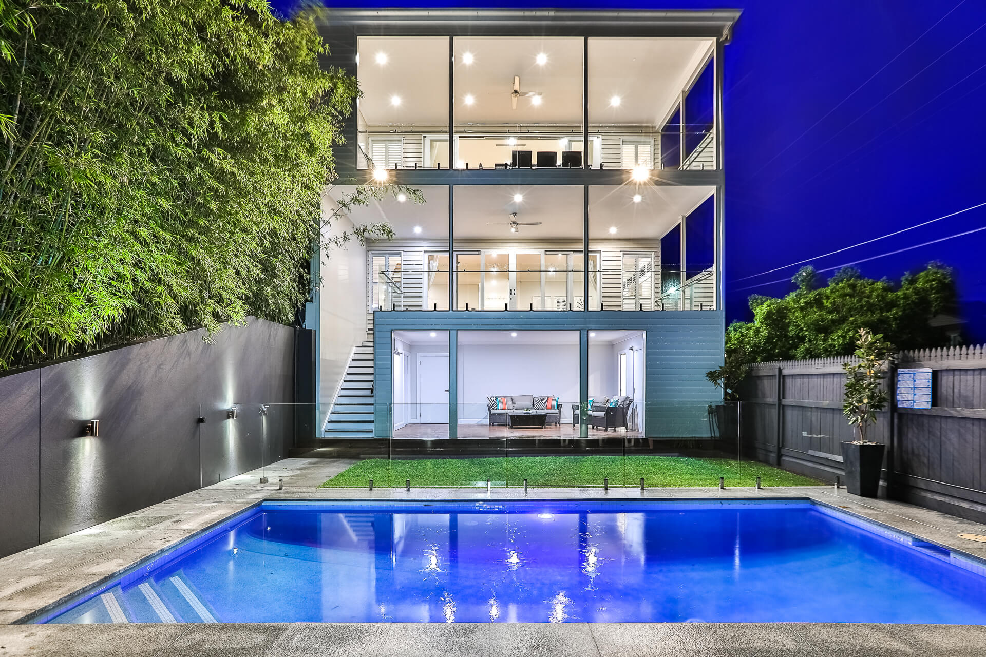 Three storey home in paddington with pool in backyard