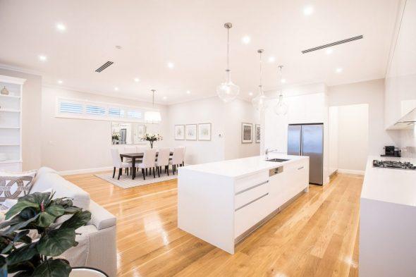 Open plan living finesse projects brisbane builders
