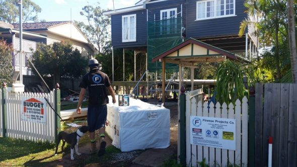 Renovations underway for Brisbane home