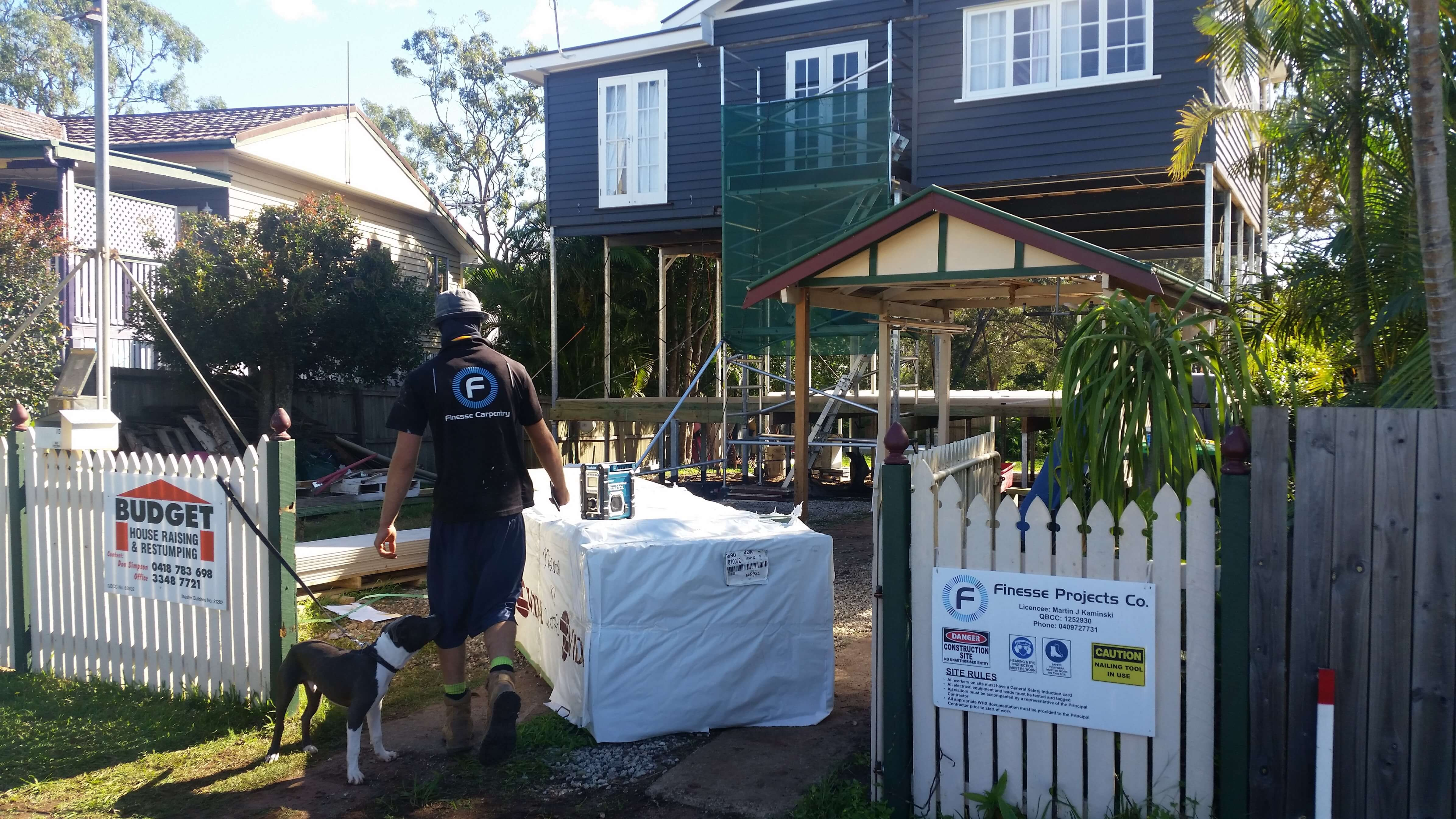 Renovations underway for Brisbane home