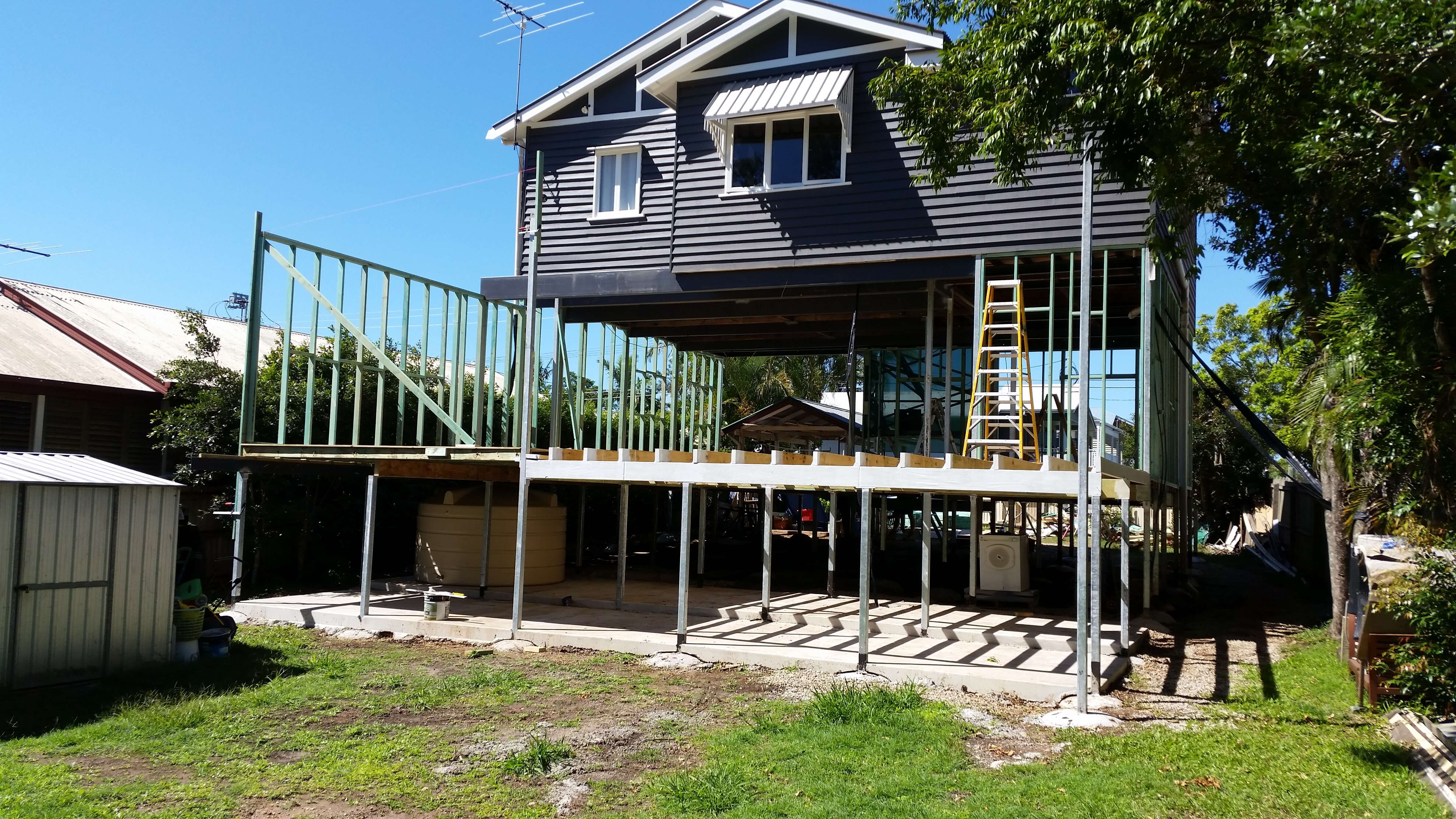 Raised home and renovations