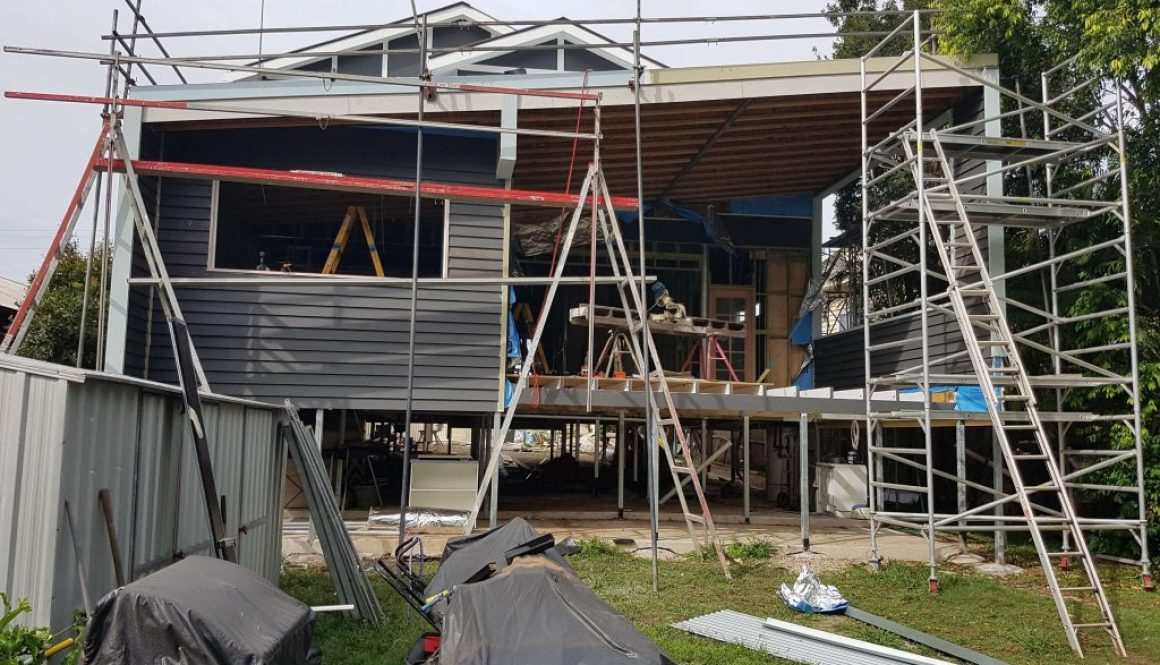 Progress of home renovation