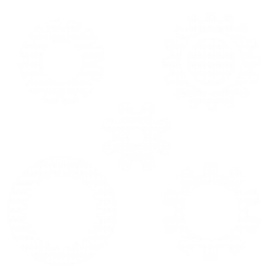 systems and white outline of gears